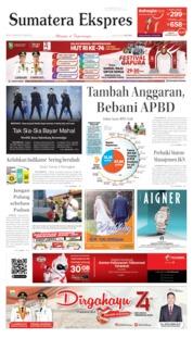 Cover Sumatera Ekspres 19 Agustus 2019