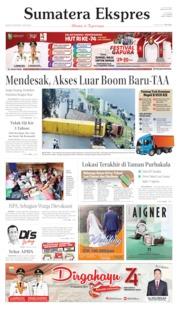 Cover Sumatera Ekspres 20 Agustus 2019