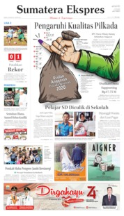 Cover Sumatera Ekspres 22 Agustus 2019