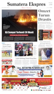 Cover Sumatera Ekspres 09 September 2019