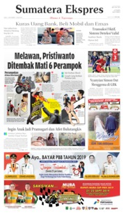Cover Sumatera Ekspres 11 September 2019