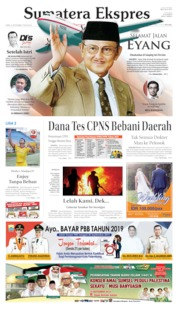 Cover Sumatera Ekspres 12 September 2019