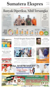 Cover Sumatera Ekspres 13 September 2019
