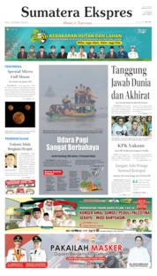 Cover Sumatera Ekspres 14 September 2019