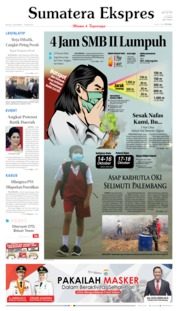 Sumatera Ekspres Cover 15 October 2019