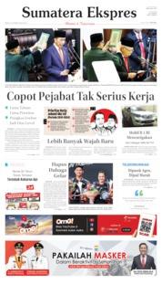 Sumatera Ekspres Cover 21 October 2019