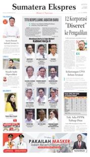 Cover Sumatera Ekspres 22 Oktober 2019