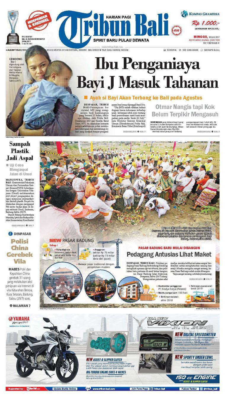 Tribun Bali Newspaper 30 July 2017 - Gramedia Digital