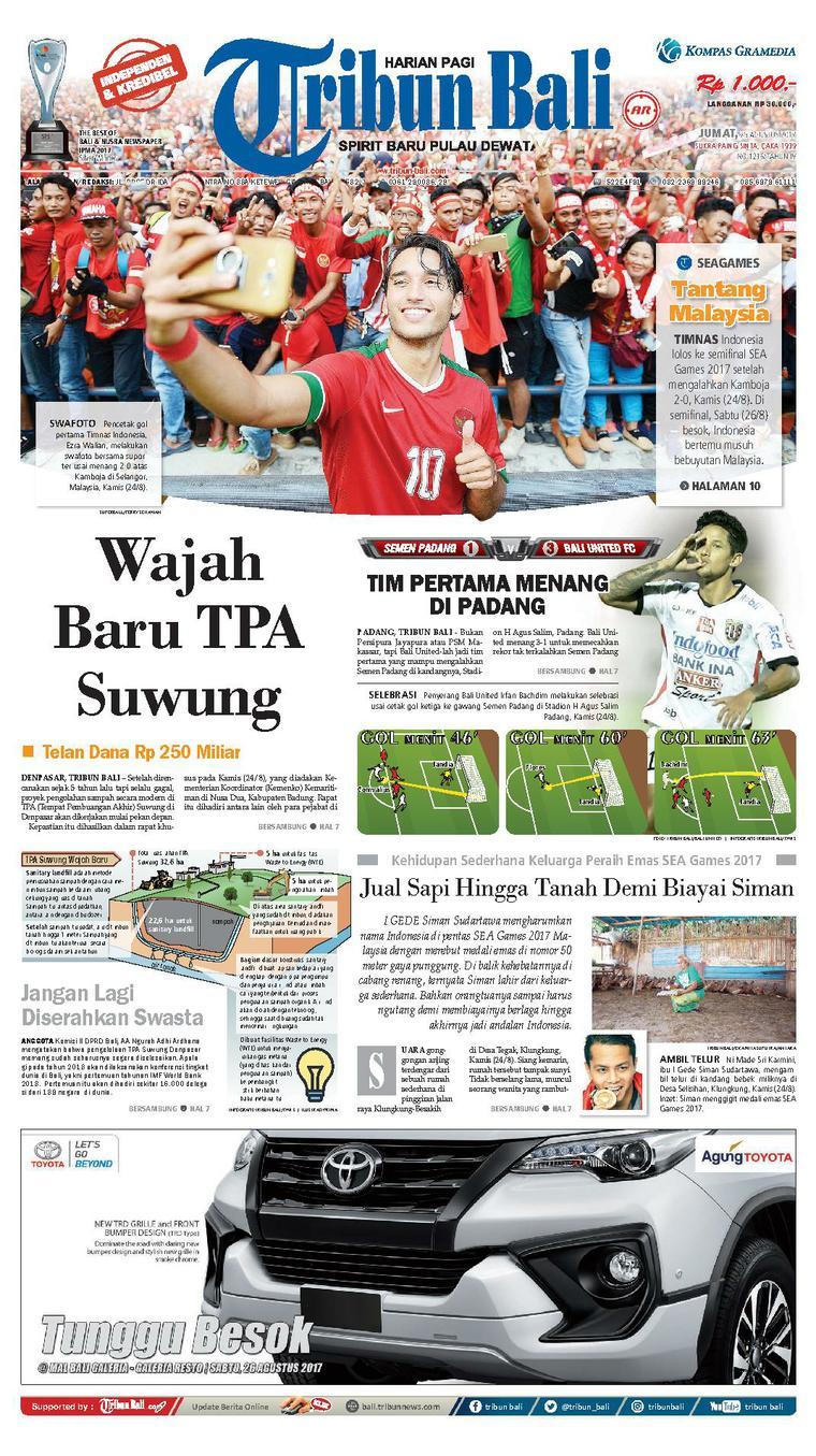 Tribun Bali Newspaper 25 August 2017 - Gramedia Digital