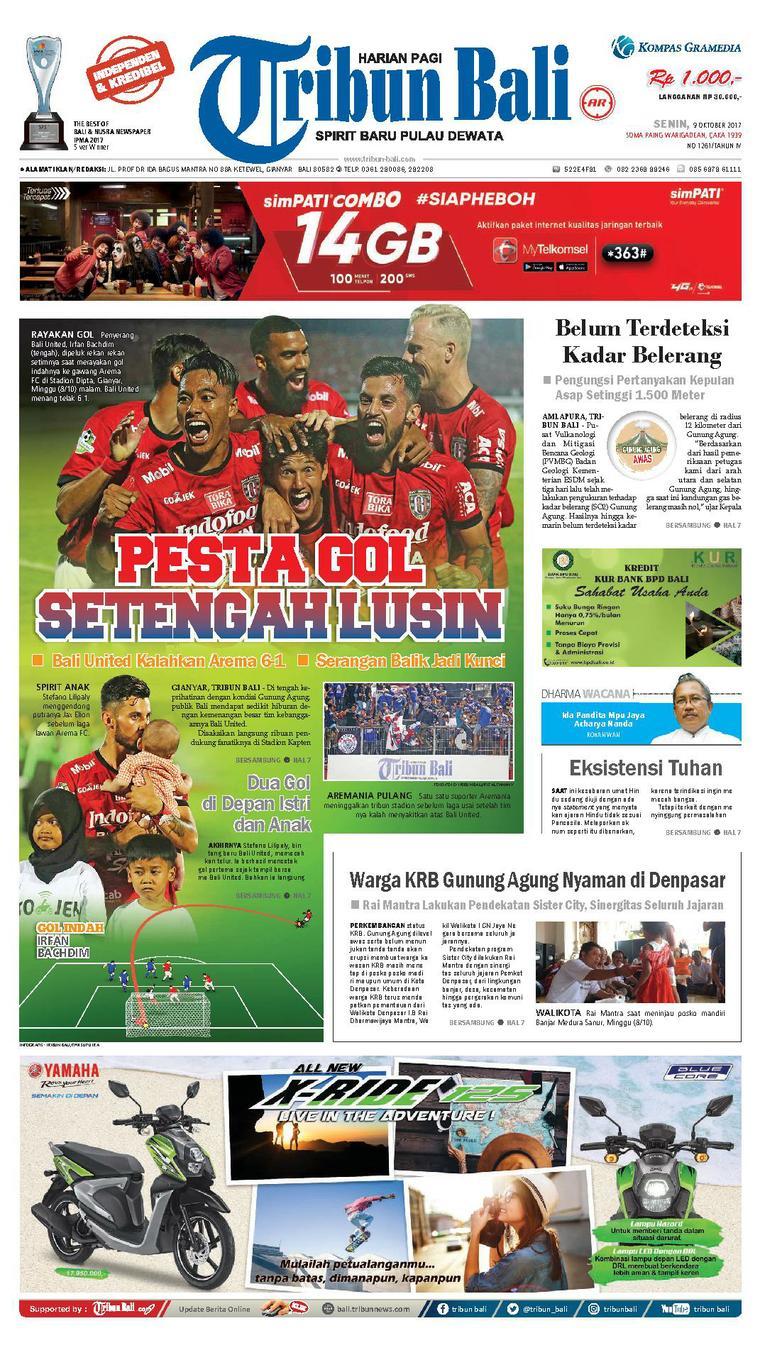 Tribun Bali Newspaper 09 October 2017 - Gramedia Digital