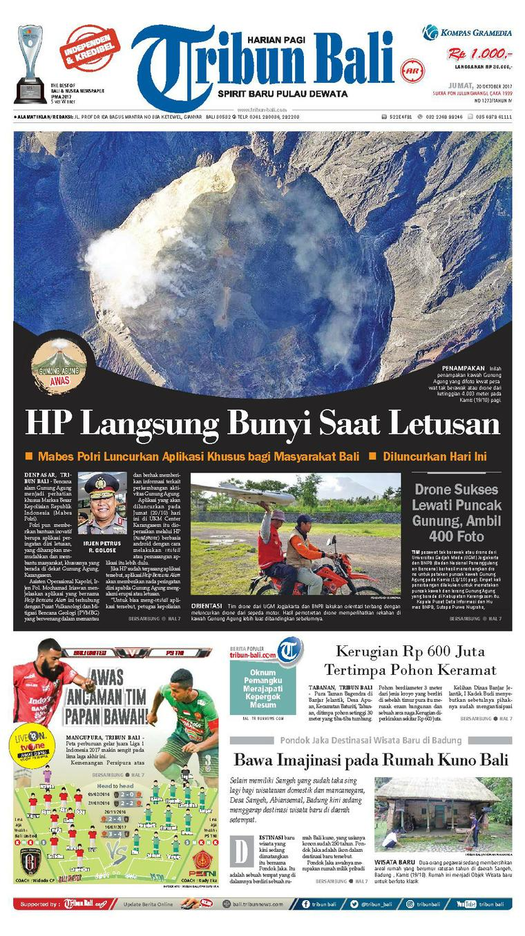Tribun Bali Newspaper 20 October 2017 - Gramedia Digital