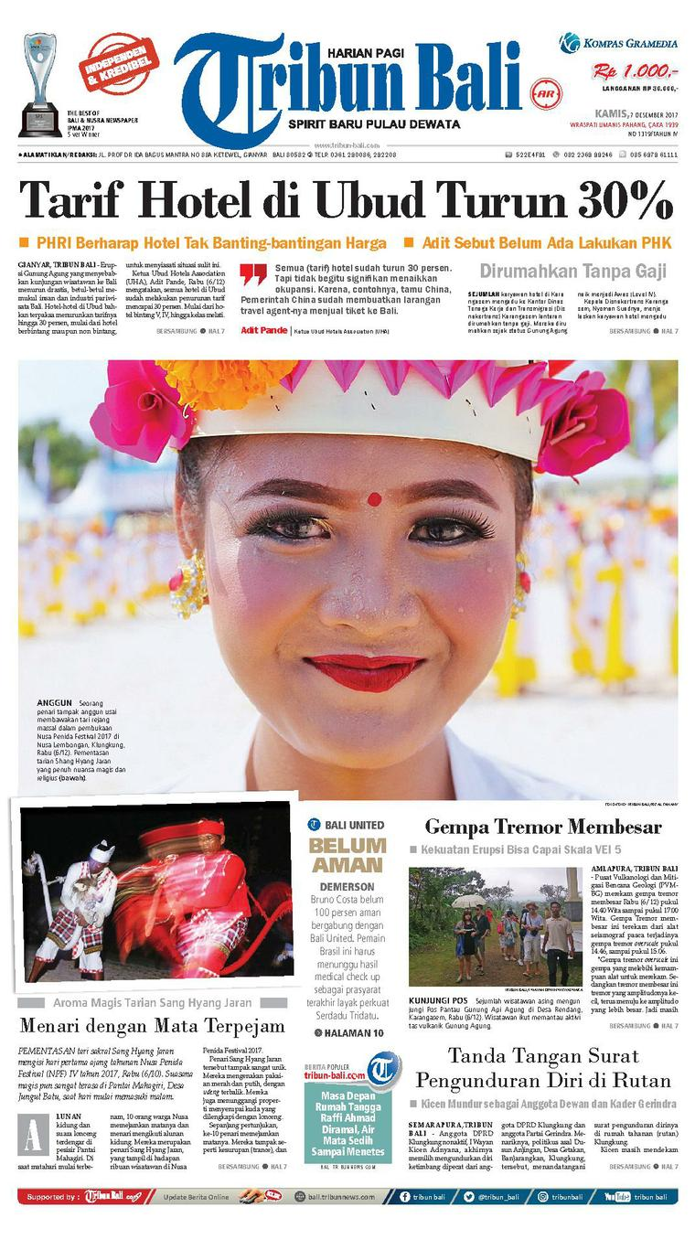 Tribun Bali Newspaper 07 December 2017 - Gramedia Digital