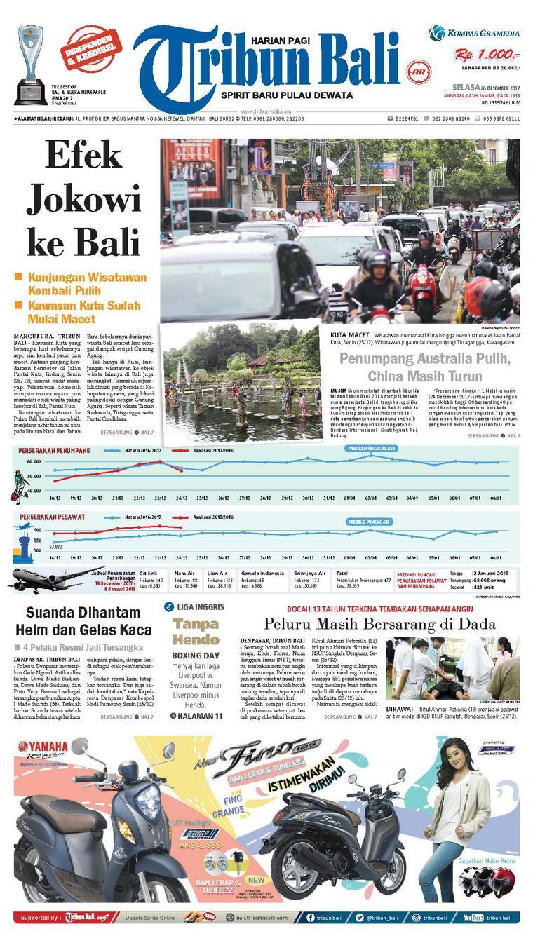 Tribun Bali Newspaper 26 December 2017 - Gramedia Digital