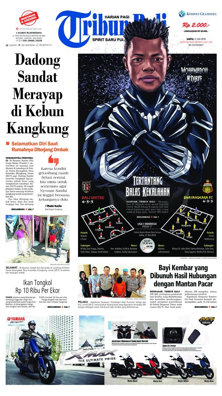 Koran Digital Tribun Bali 21 Juli 2018