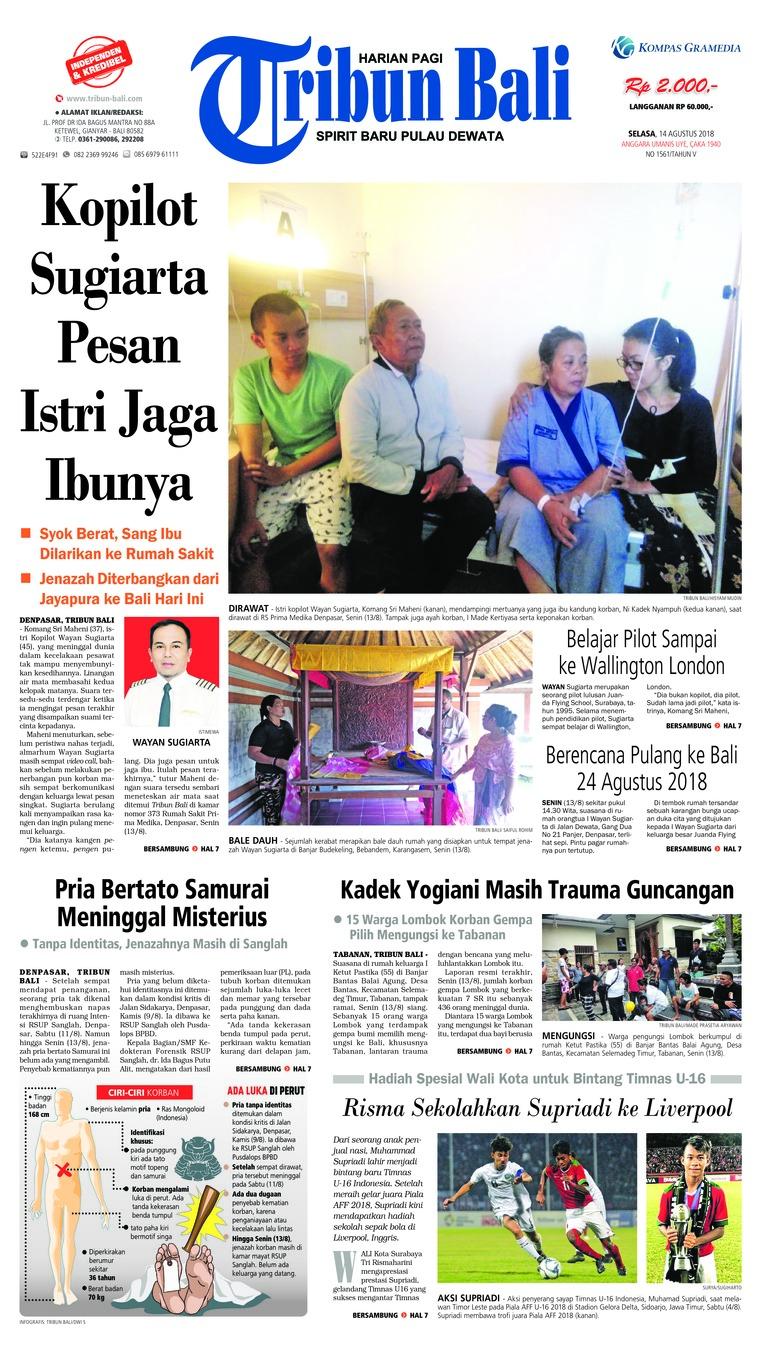 Koran Digital Tribun Bali 14 Agustus 2018