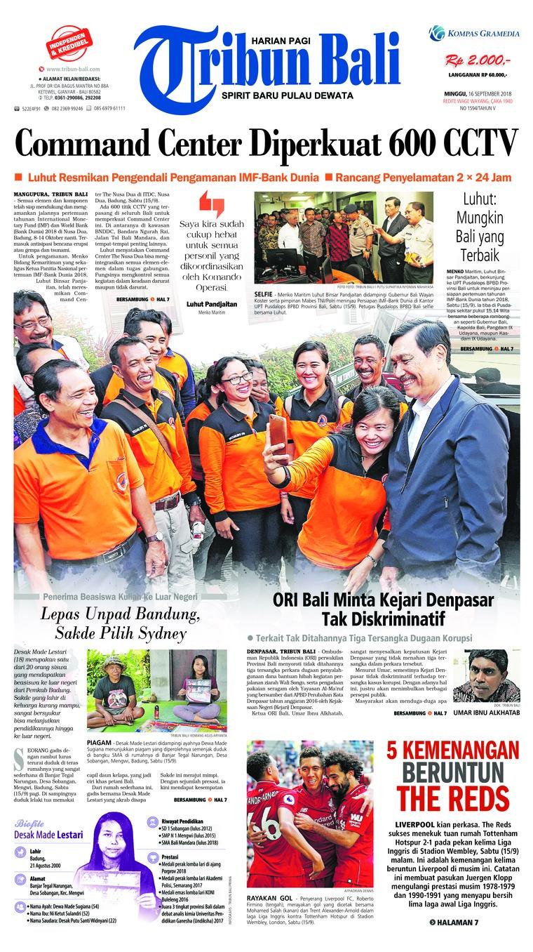 Koran Digital Tribun Bali 16 September 2018