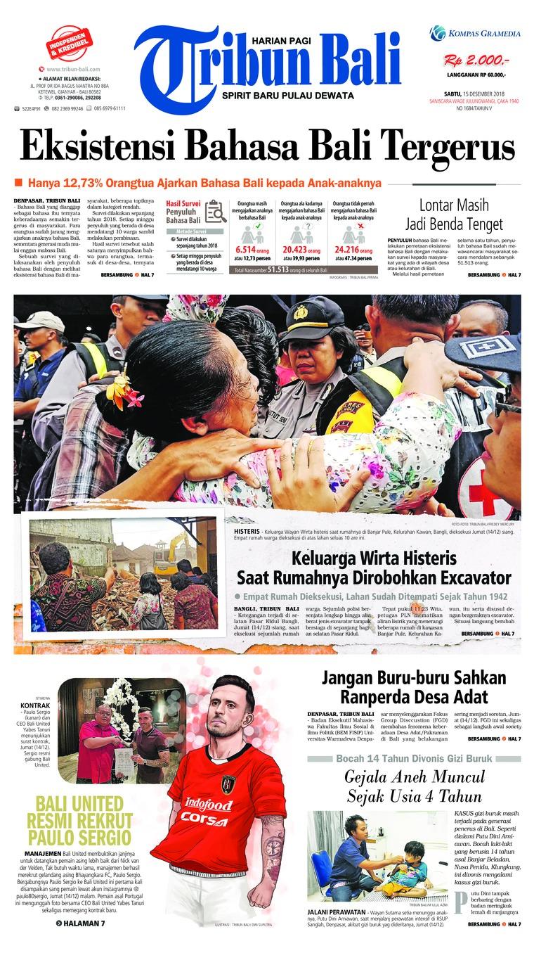 Koran Digital Tribun Bali 15 Desember 2018