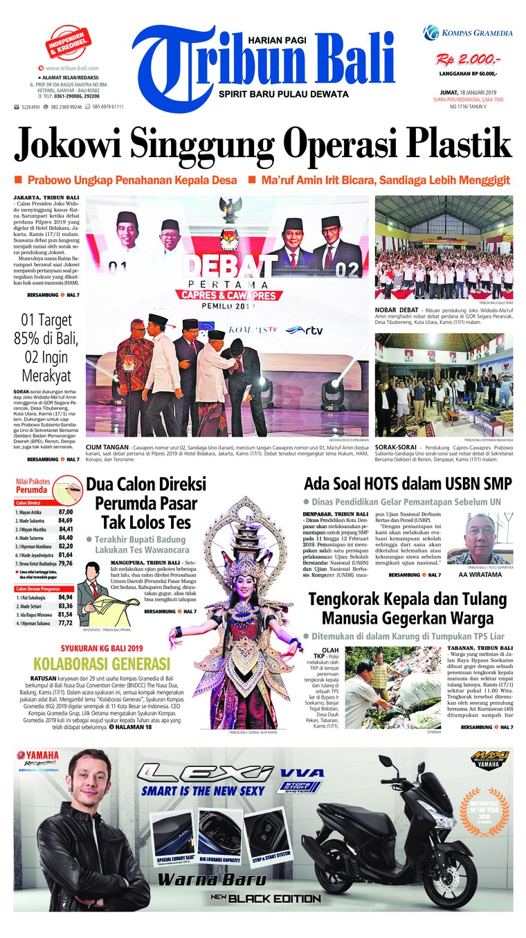 Tribun Bali Digital Newspaper 18 January 2019