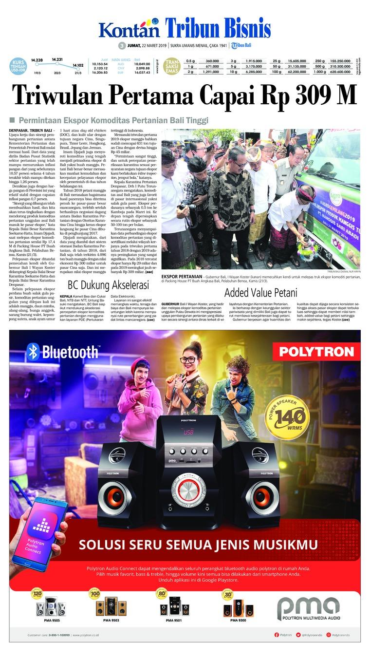 Koran Digital Tribun Bali 22 Maret 2019