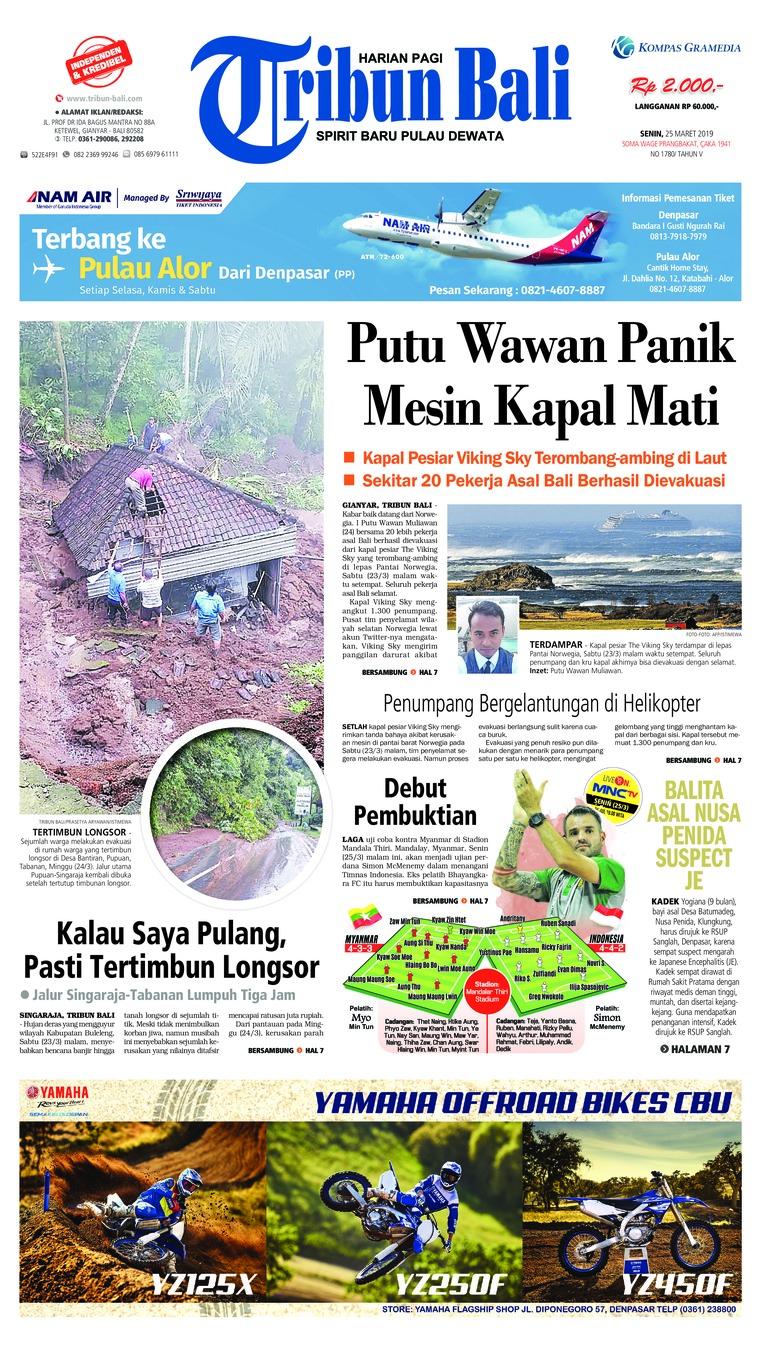 Tribun Bali Digital Newspaper 25 March 2019