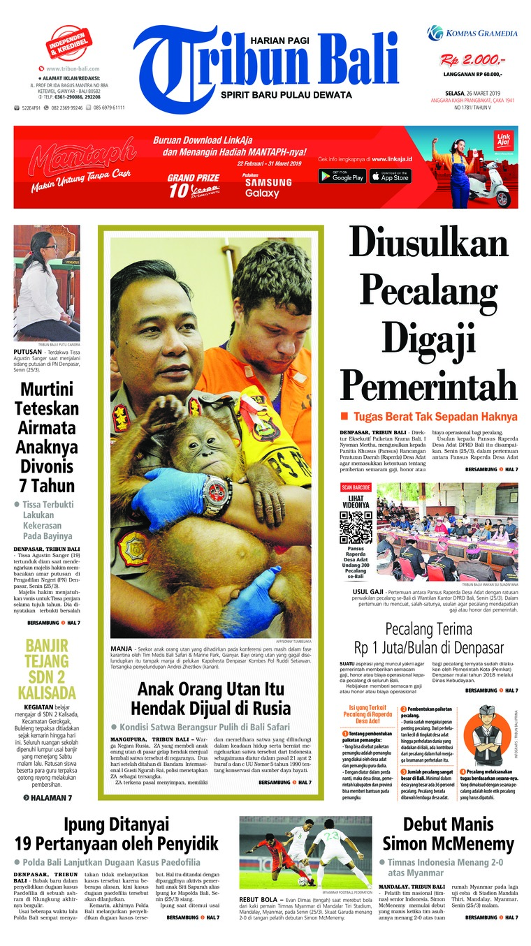 Tribun Bali Digital Newspaper 26 March 2019