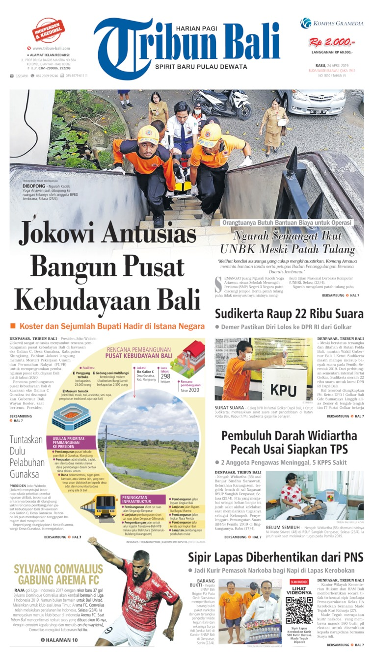 Tribun Bali Digital Newspaper 24 April 2019