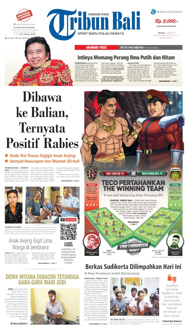 Koran Digital Tribun Bali 21 Mei 2019