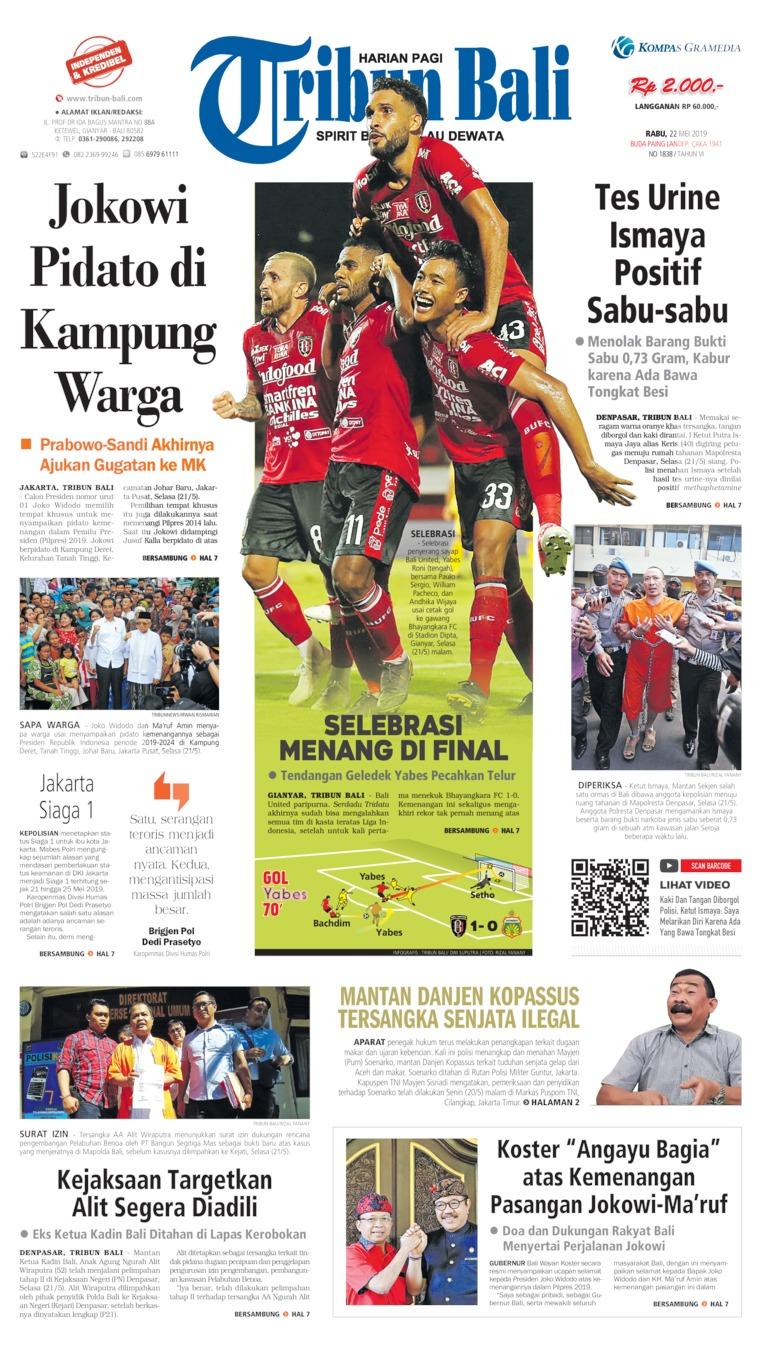 Tribun Bali Digital Newspaper 22 May 2019