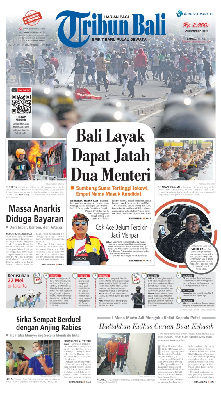 Tribun Bali Digital Newspaper 23 May 2019