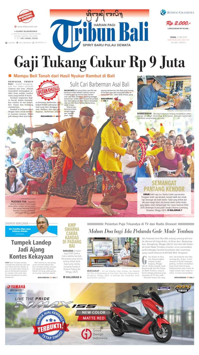 Tribun Bali Digital Newspaper 27 May 2019