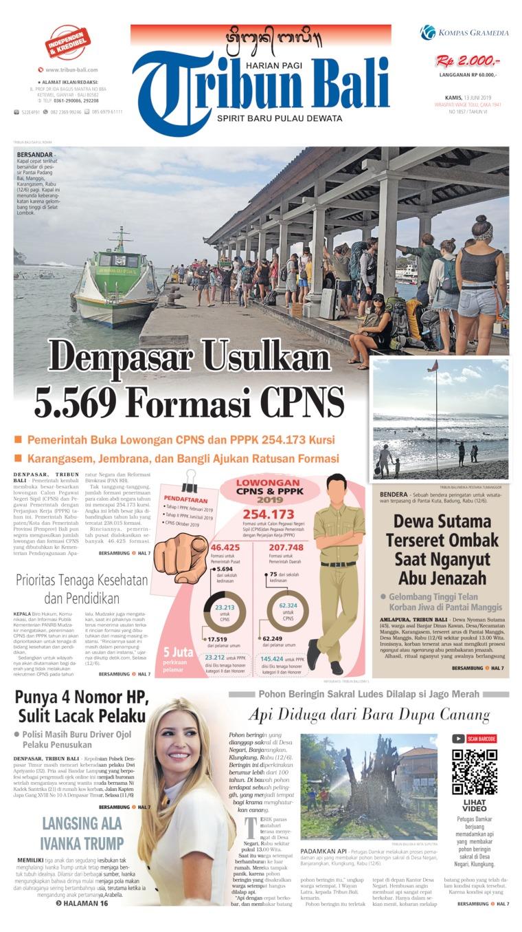 Tribun Bali Digital Newspaper 13 June 2019