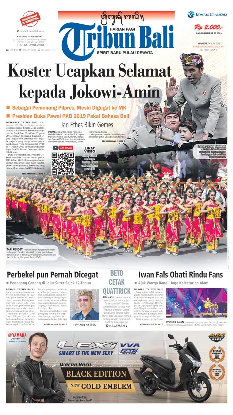 Tribun Bali Digital Newspaper 16 June 2019
