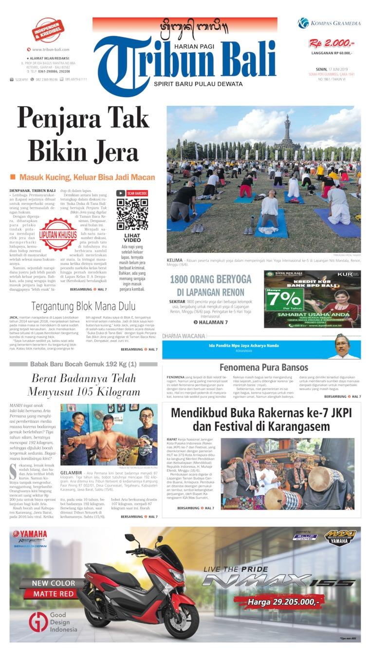 Tribun Bali Digital Newspaper 17 June 2019