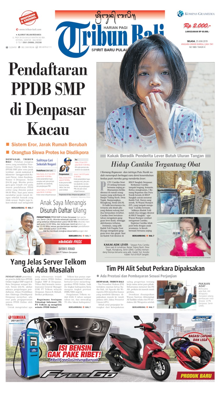 Tribun Bali Digital Newspaper 25 June 2019