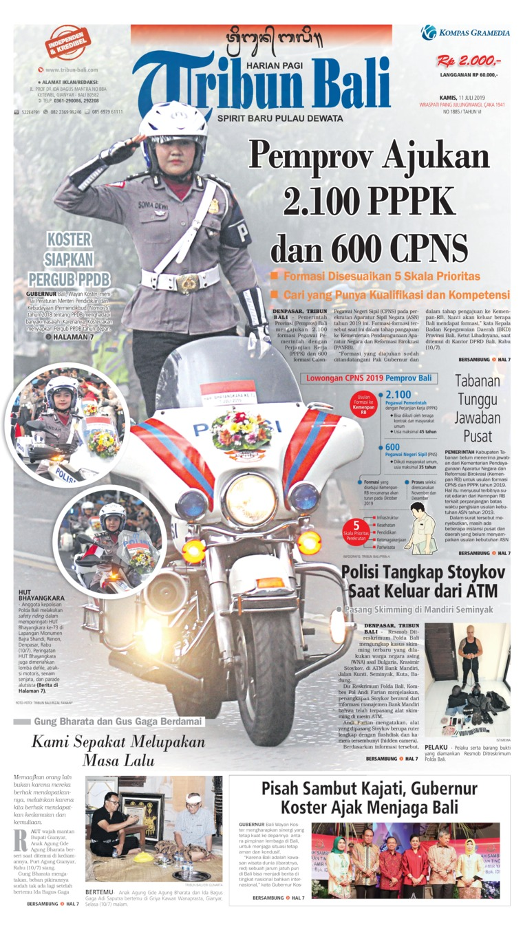 Tribun Bali Digital Newspaper 11 July 2019