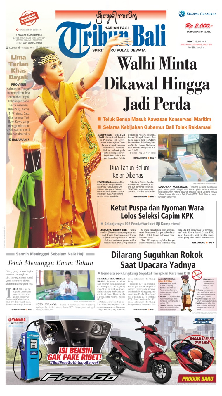 Tribun Bali Digital Newspaper 12 July 2019