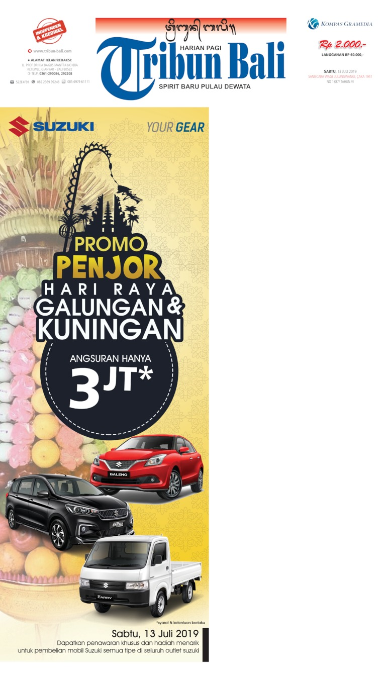 Tribun Bali Digital Newspaper 13 July 2019