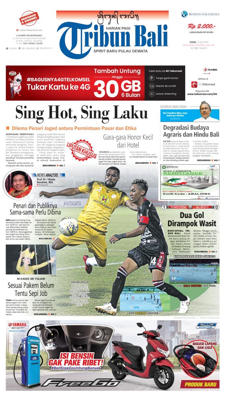 Tribun Bali Digital Newspaper 15 July 2019