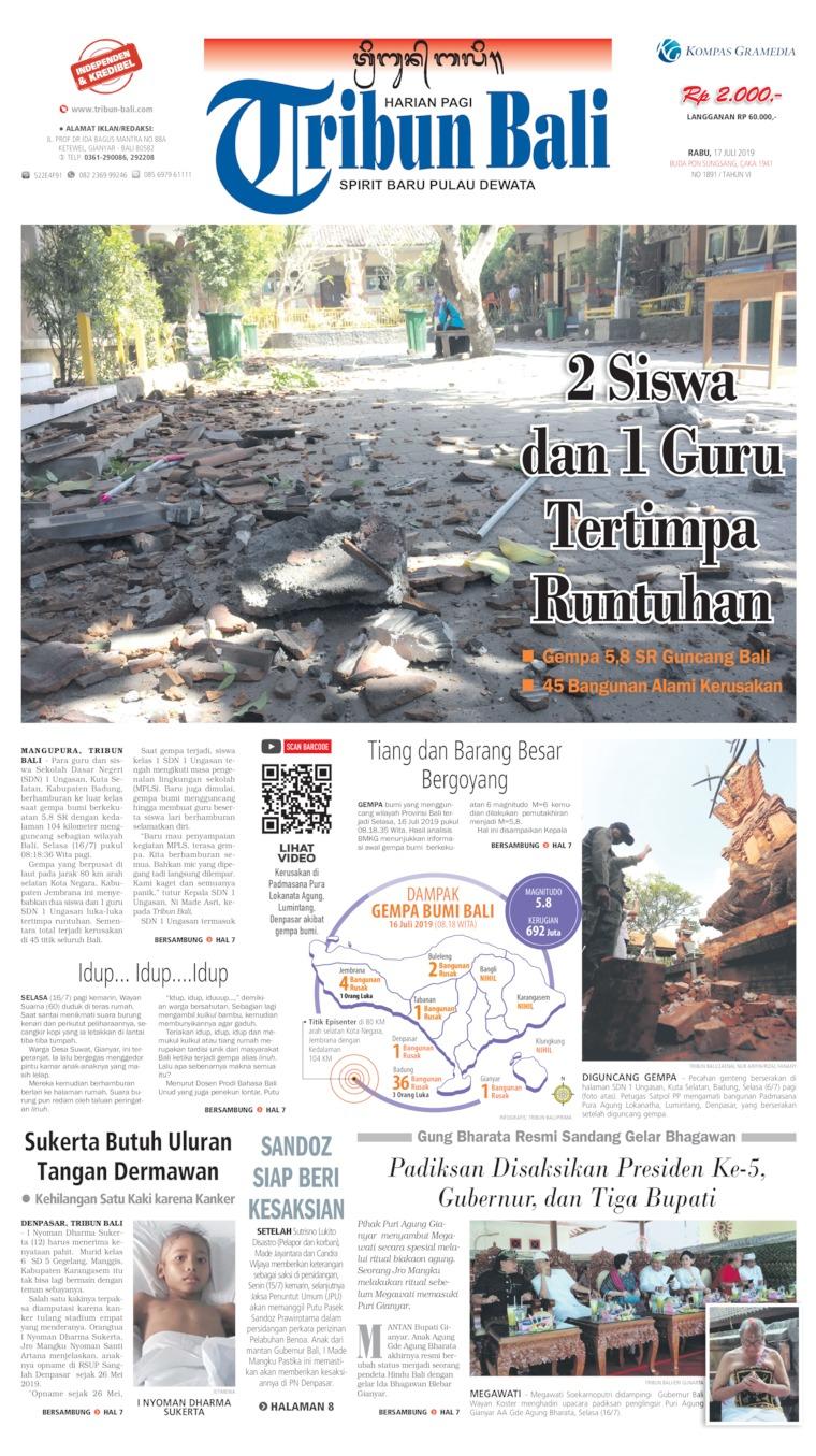 Koran Digital Tribun Bali 17 Juli 2019
