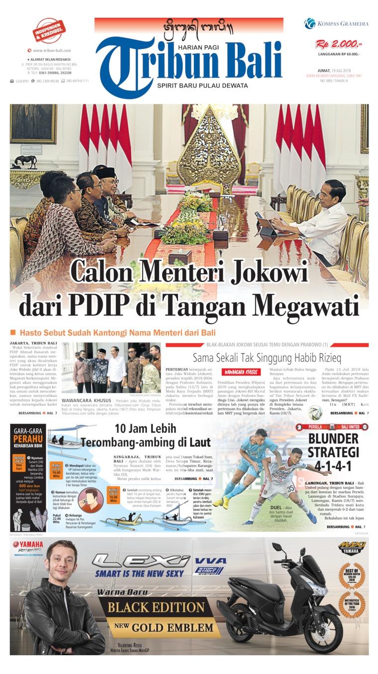 Tribun Bali Digital Newspaper 19 July 2019