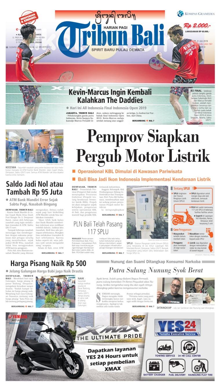 Tribun Bali Digital Newspaper 21 July 2019