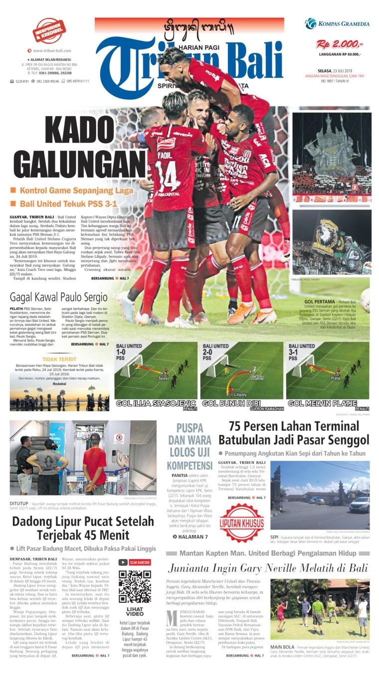 Tribun Bali Digital Newspaper 23 July 2019
