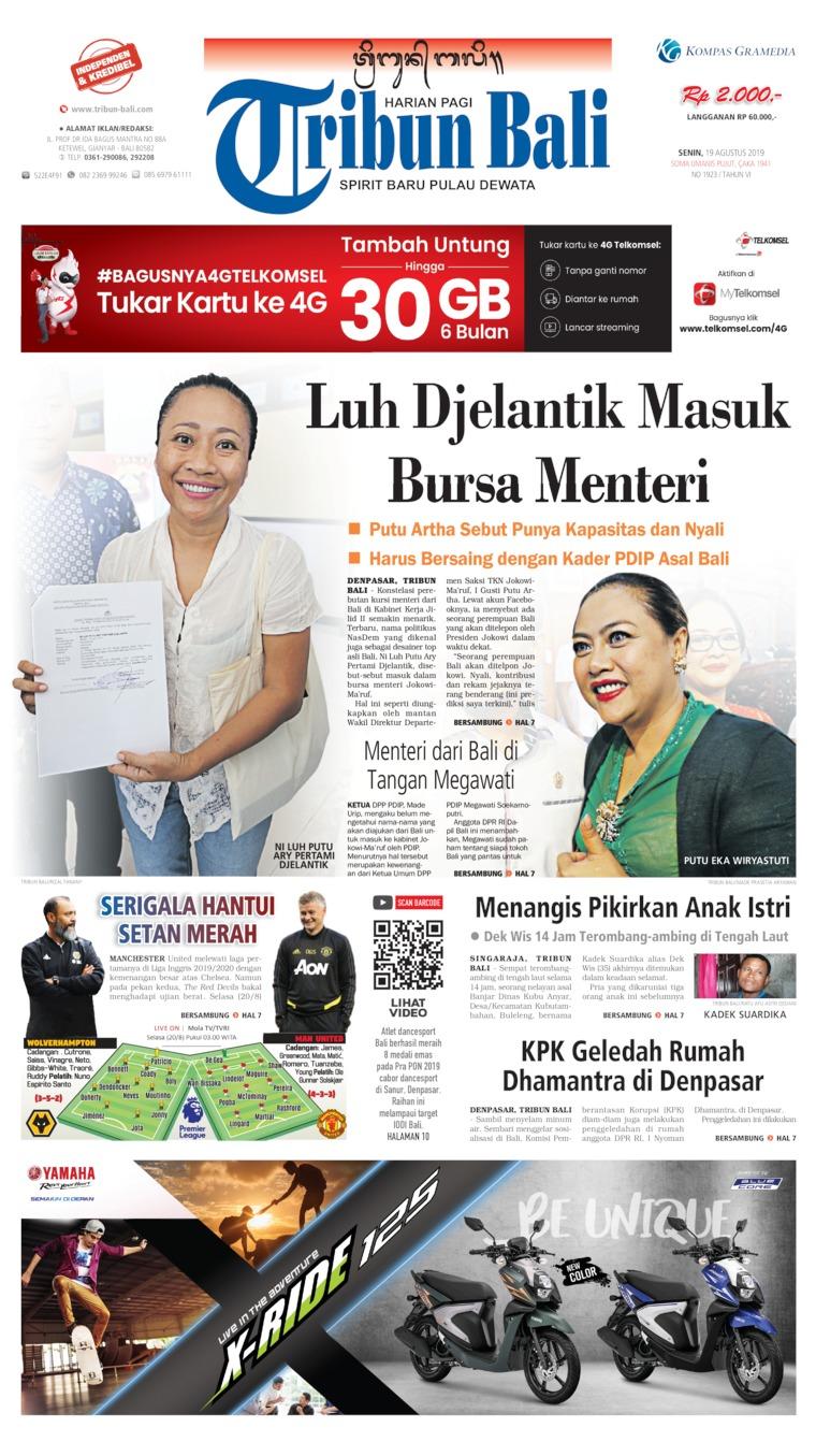 Tribun Bali Digital Newspaper 19 August 2019