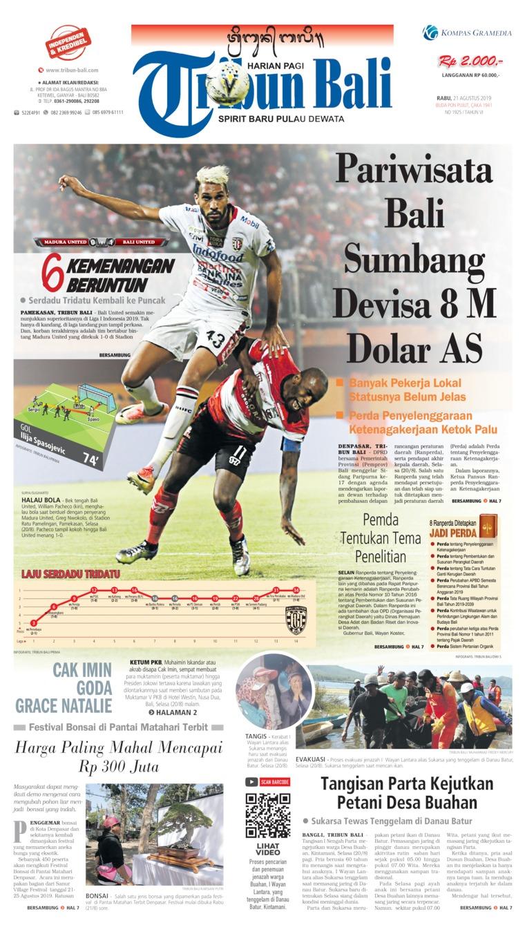 Koran Digital Tribun Bali 21 Agustus 2019