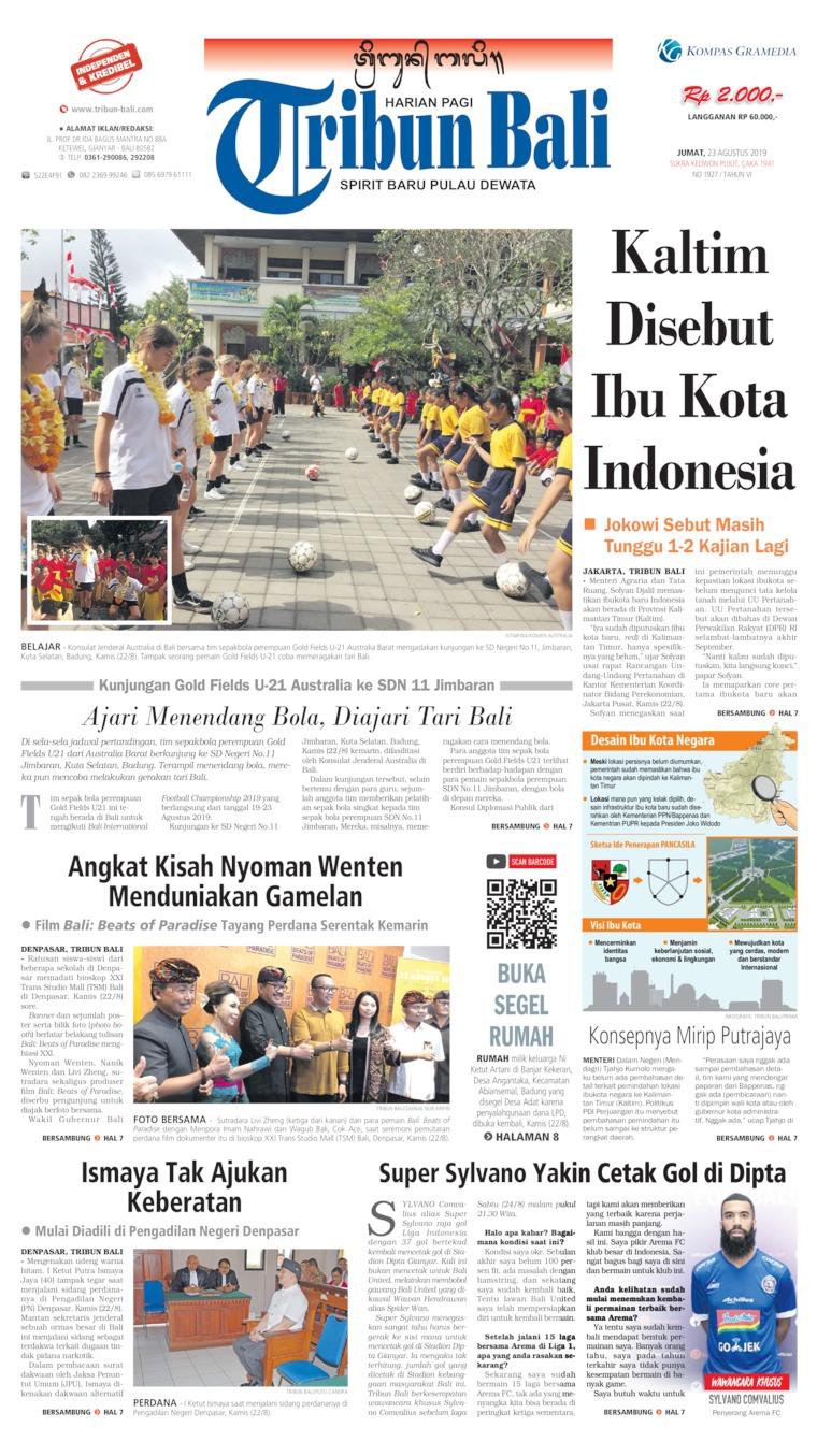 Koran Digital Tribun Bali 23 Agustus 2019