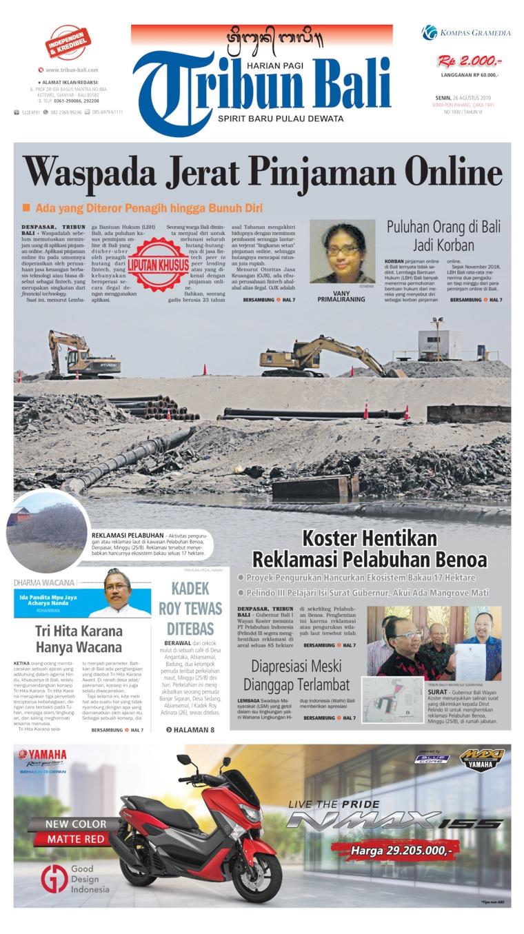 Koran Digital Tribun Bali 26 Agustus 2019