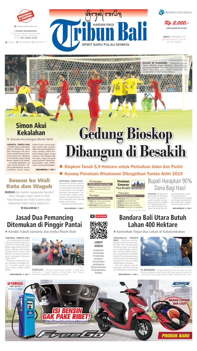 Tribun Bali Digital Newspaper 06 September 2019