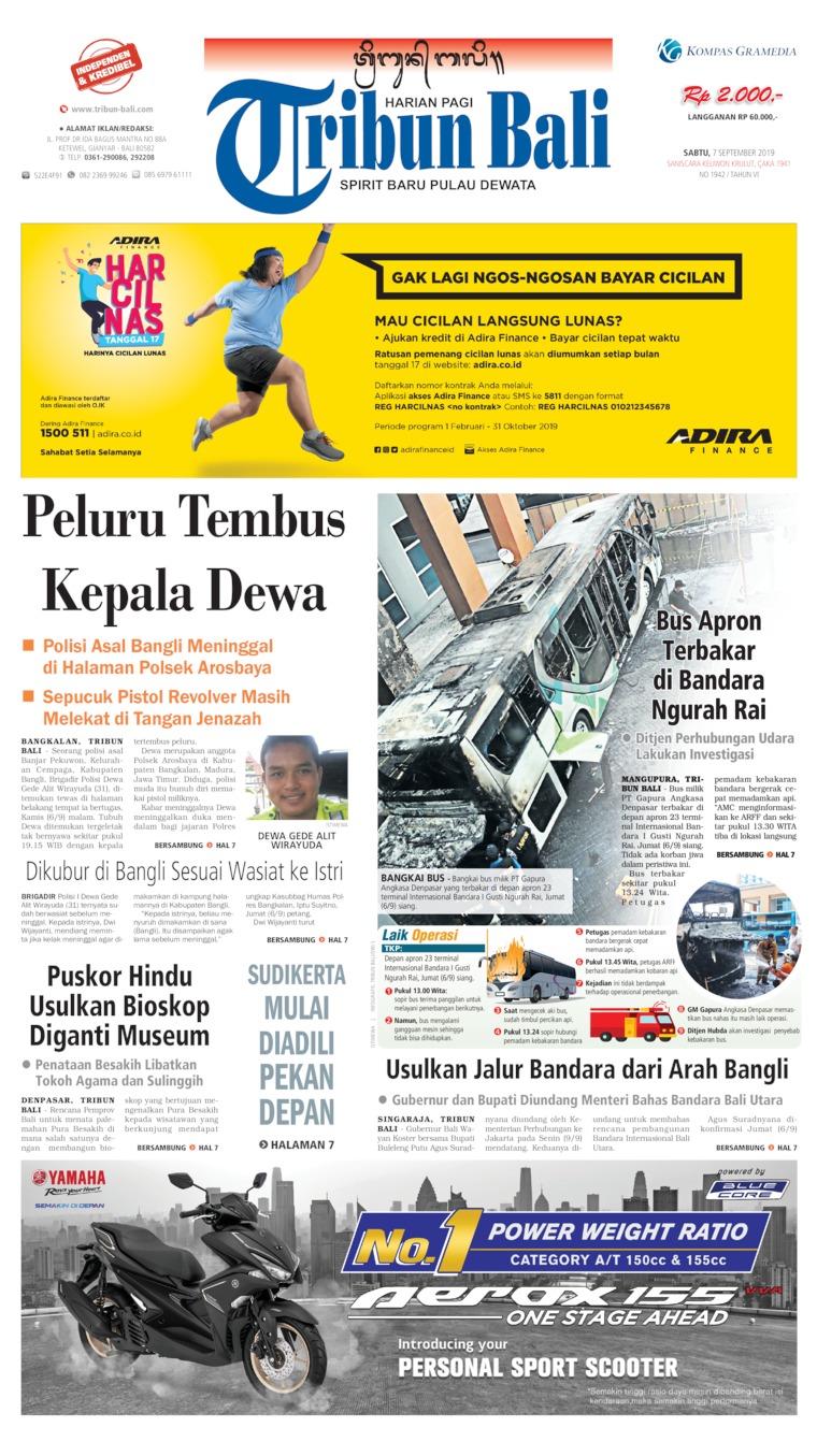 Tribun Bali Digital Newspaper 07 September 2019