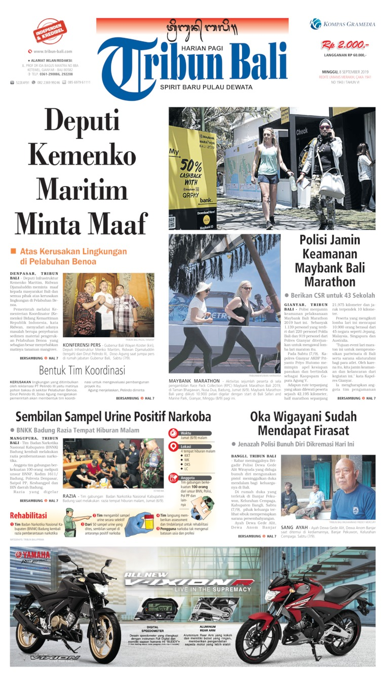 Tribun Bali Digital Newspaper 08 September 2019