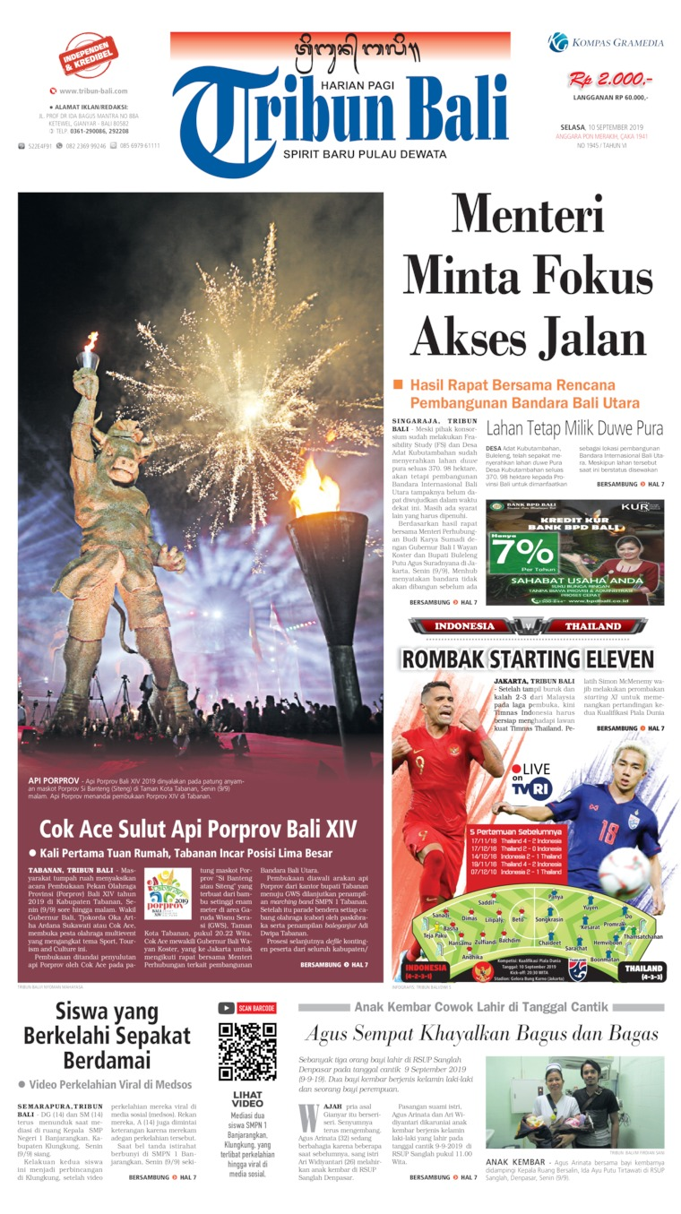 Tribun Bali Digital Newspaper 10 September 2019